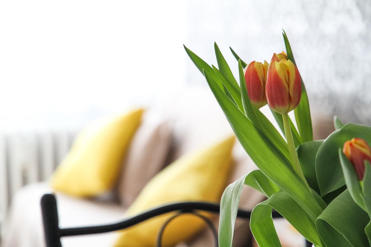 インテリアと花