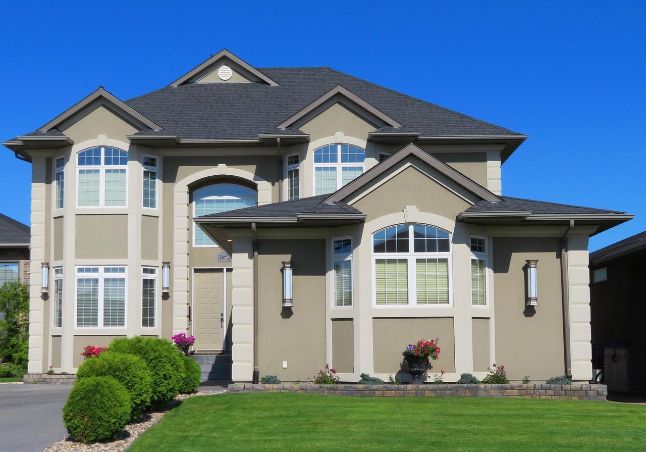 家屋と芝生
