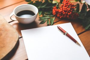 ノートと赤い木の実