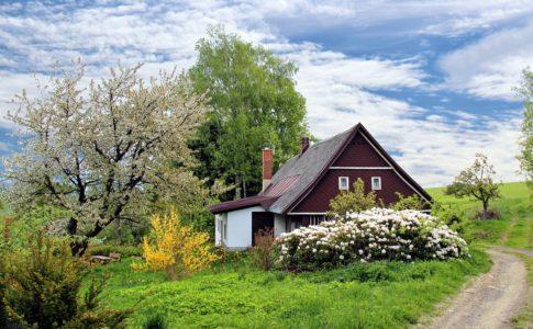 自然の中の家屋